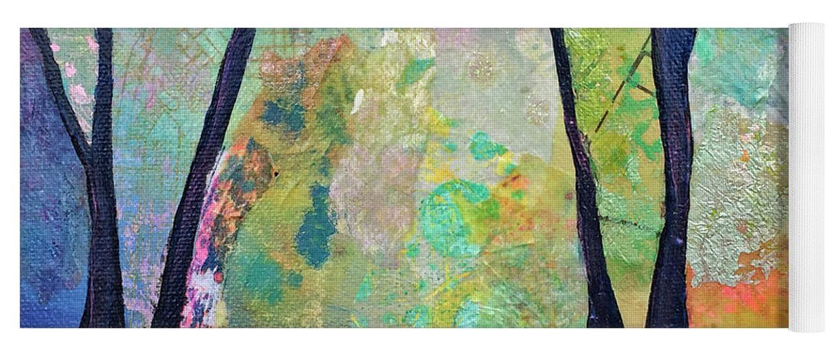 Fall Yoga Mat featuring the painting Twilight I by Shadia Derbyshire