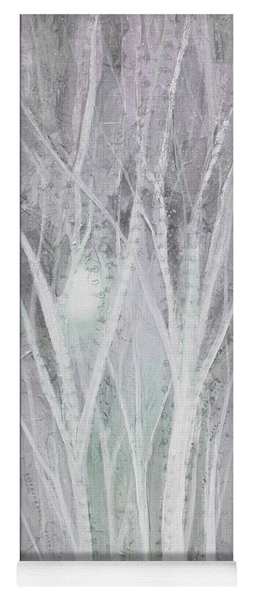 Trees Yoga Mat featuring the painting Twilight In Gray I by Shadia Derbyshire
