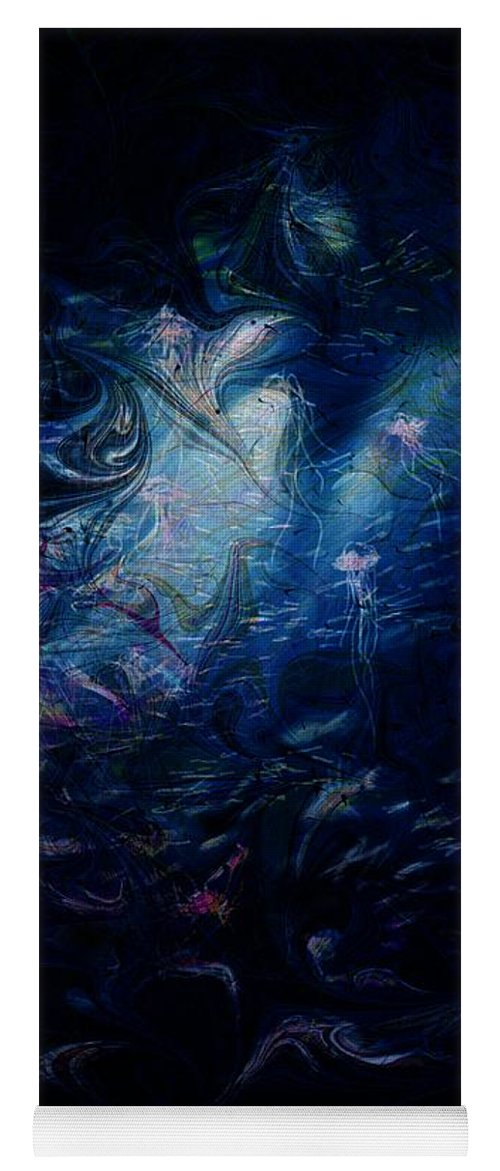 Abstract Yoga Mat featuring the digital art Under the Sea by William Russell Nowicki