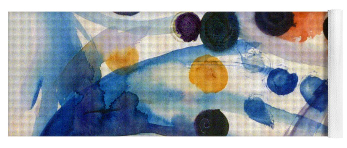 Abstract Yoga Mat featuring the painting Under the Sea by Steve Karol