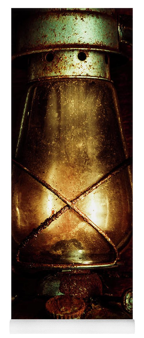 Mining Yoga Mat featuring the photograph Underground Mining Lamp by Jorgo Photography - Wall Art Gallery