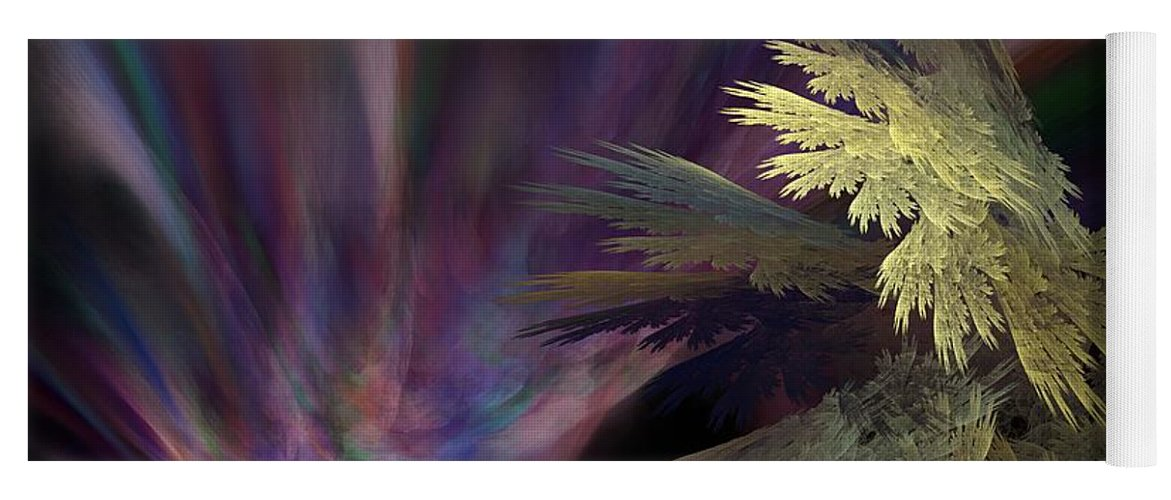 Fantasy Yoga Mat featuring the digital art Untitled 12-05-09 by David Lane
