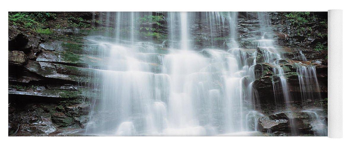 Photography Yoga Mat featuring the photograph Usa, Pennsylvania, Ganoga Falls by Panoramic Images