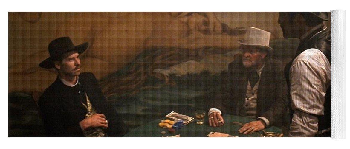 Val Kilmer As Doc Holliday Gambling Tombstone Set 1993 Yoga Mat featuring the photograph Val Kilmer As Doc Holliday Gambling Tombstone Set 1993-2015 by David Lee Guss