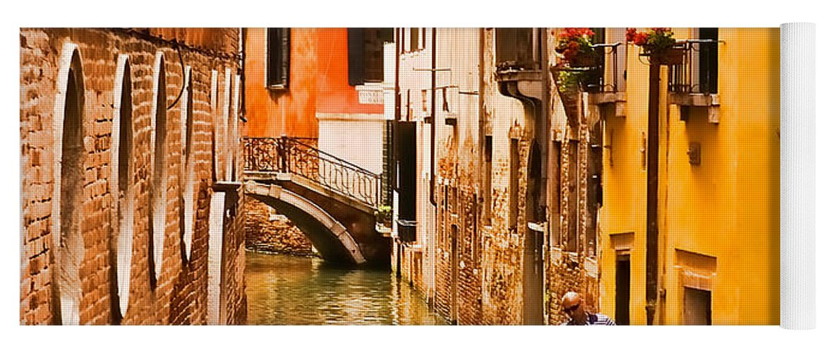 Venice Yoga Mat featuring the photograph Venice Passage by Mick Burkey
