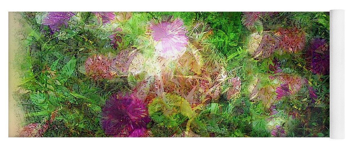 Semi-abstract Yoga Mat featuring the painting Vernal Equinox by RC DeWinter
