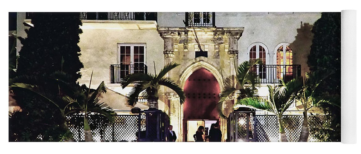 Versace Yoga Mat featuring the photograph Versace Mansion South Beach by Gary Dean Mercer Clark