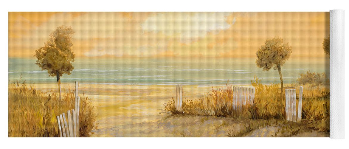Beach Yoga Mat featuring the painting Verso La Spiaggia by Guido Borelli