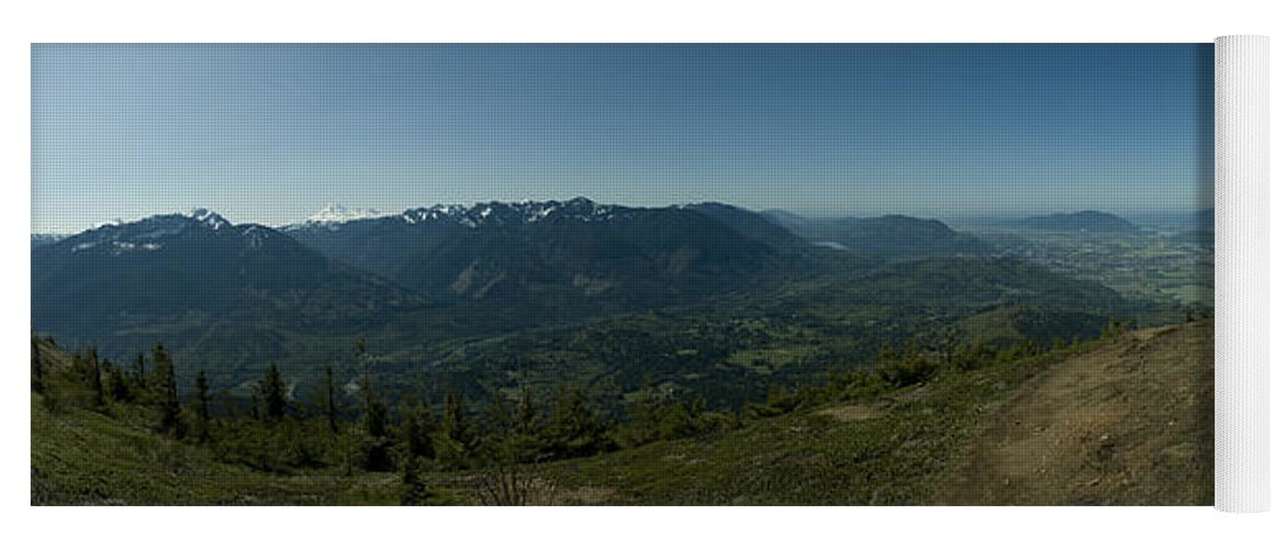 Elk Mountain Yoga Mat featuring the photograph View From Elk Mountain by Rod Wiens