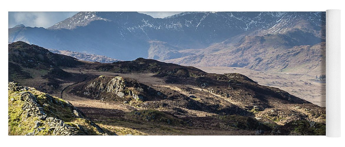Moel Siabod Yoga Mat featuring the photograph View from Moel Siabod, Snowdonia, North Wales by Anthony Lawlor