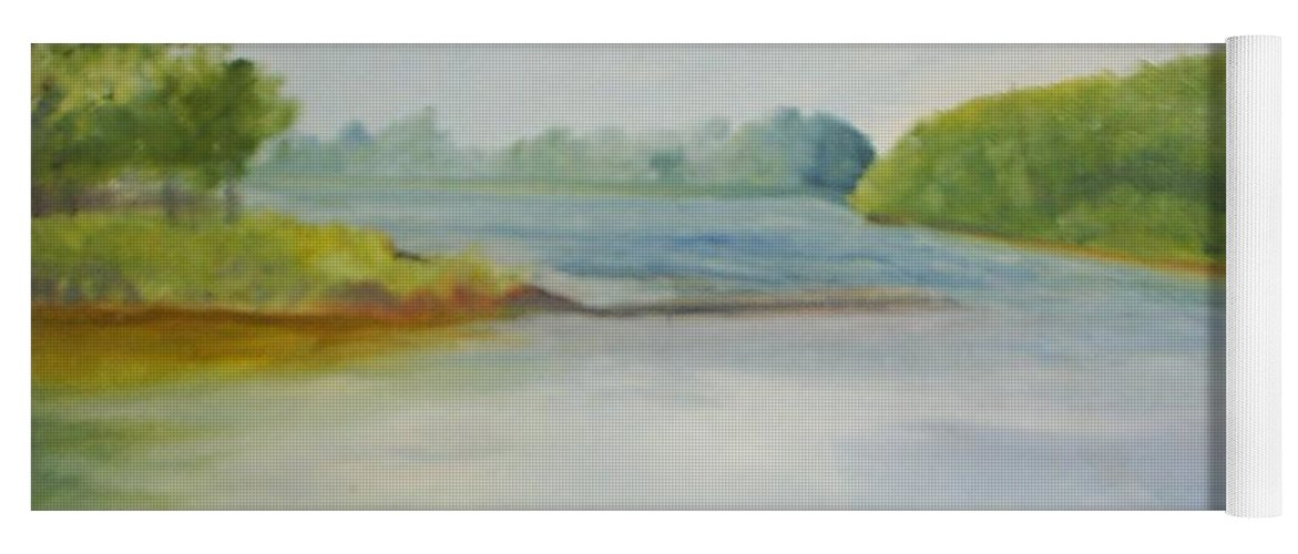 Delaware River Yoga Mat featuring the painting View of the Delaware by Sheila Mashaw