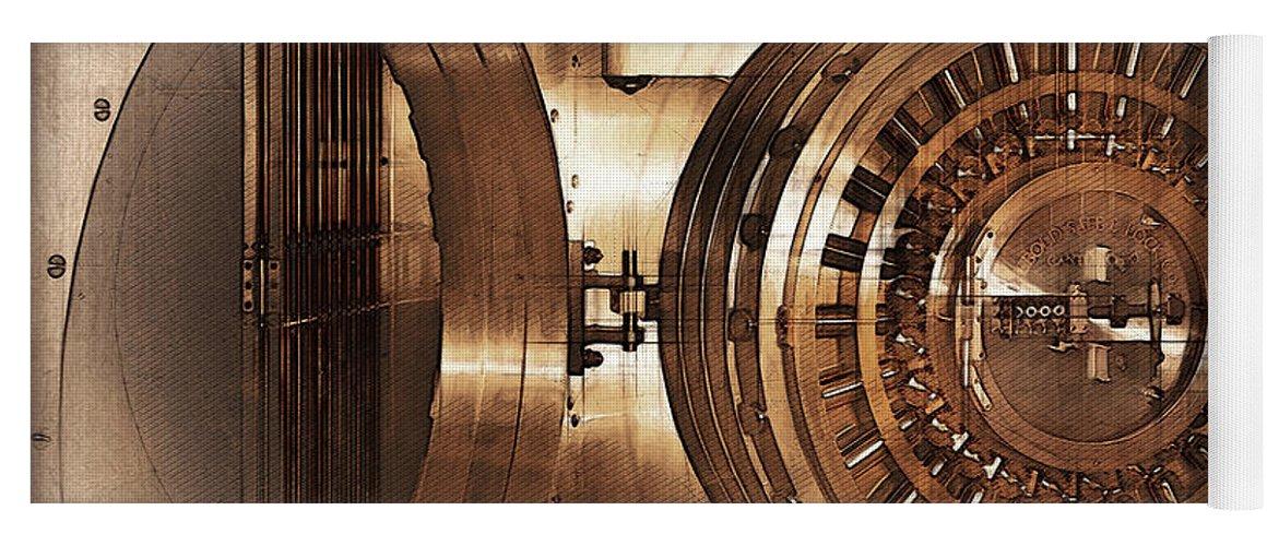 Design Vintage Bank.Vintage Bank Vault Door And Lock No 1 Yoga Mat For Sale By Serge