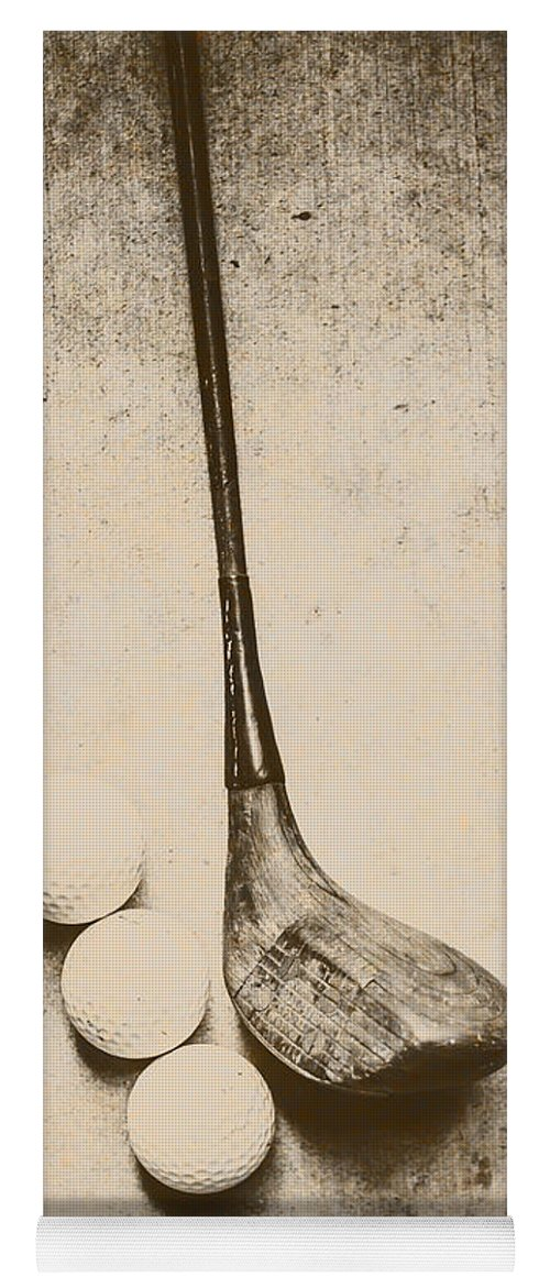 Vintage Yoga Mat featuring the photograph Vintage Golf Artwork by Jorgo Photography - Wall Art Gallery