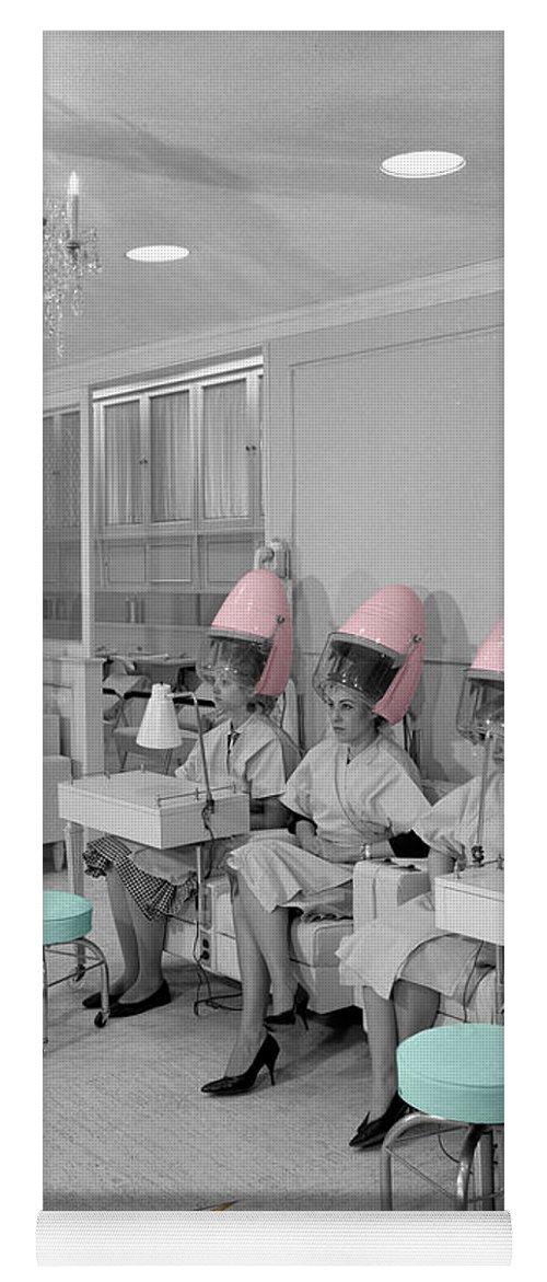 Hair Salon Yoga Mat featuring the photograph Vintage Hair Salon by Andrew Fare