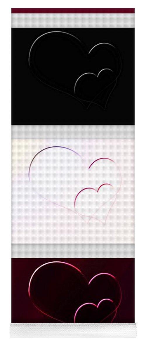Virtue Yoga Mat featuring the digital art Virtue Vice Vengeance by Linda Galok