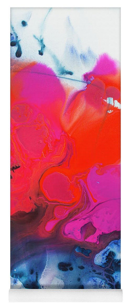 Abstract Yoga Mat featuring the painting Voice by Claire Desjardins