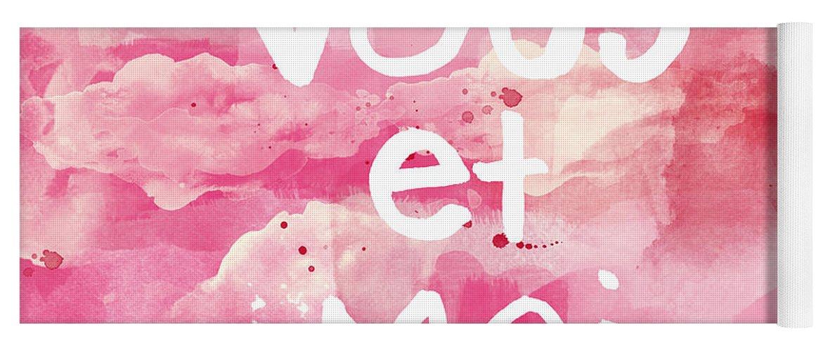 Vous Et Moi Yoga Mat featuring the painting Vous Et Moi by Linda Woods