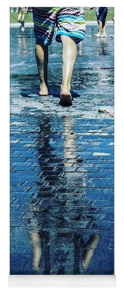 Man Yoga Mat featuring the photograph Walking On The Water by Nerea Berdonces Albareda