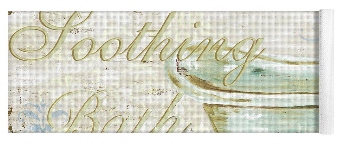 Bath Yoga Mat featuring the painting Warm Bath 1 by Debbie DeWitt