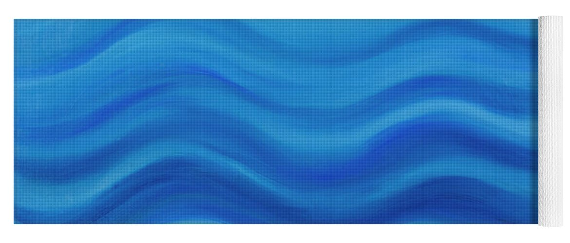 Water Yoga Mat featuring the painting Water by Adamantini Feng shui