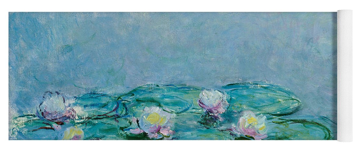 French Yoga Mat featuring the painting Water Lilies by Claude Monet