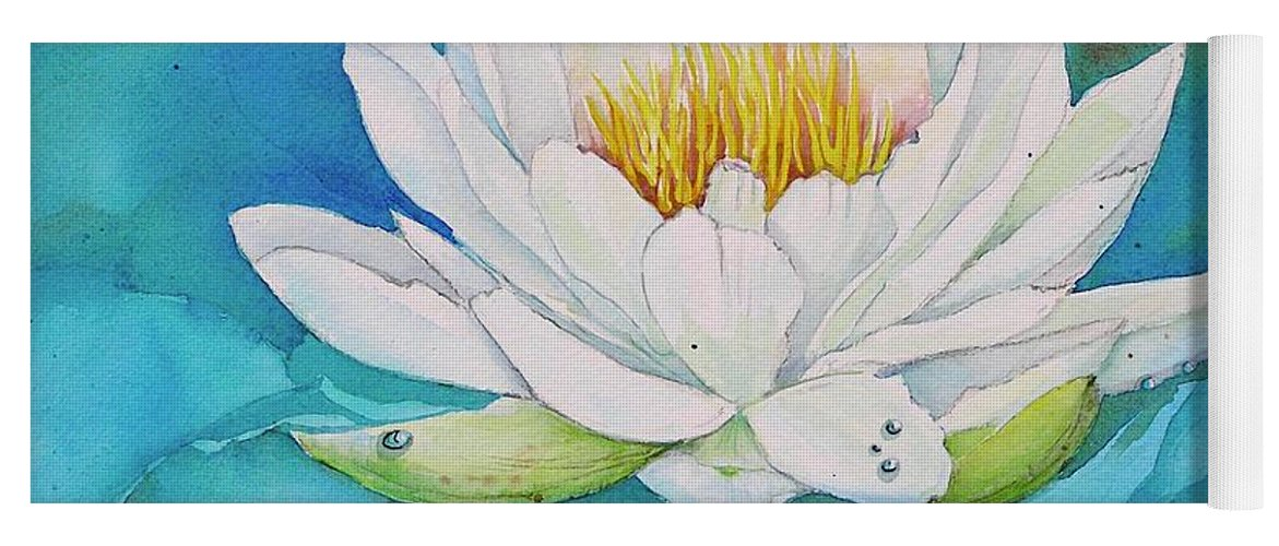 Water Lily Yoga Mat featuring the painting Water Lily by Midge Pippel