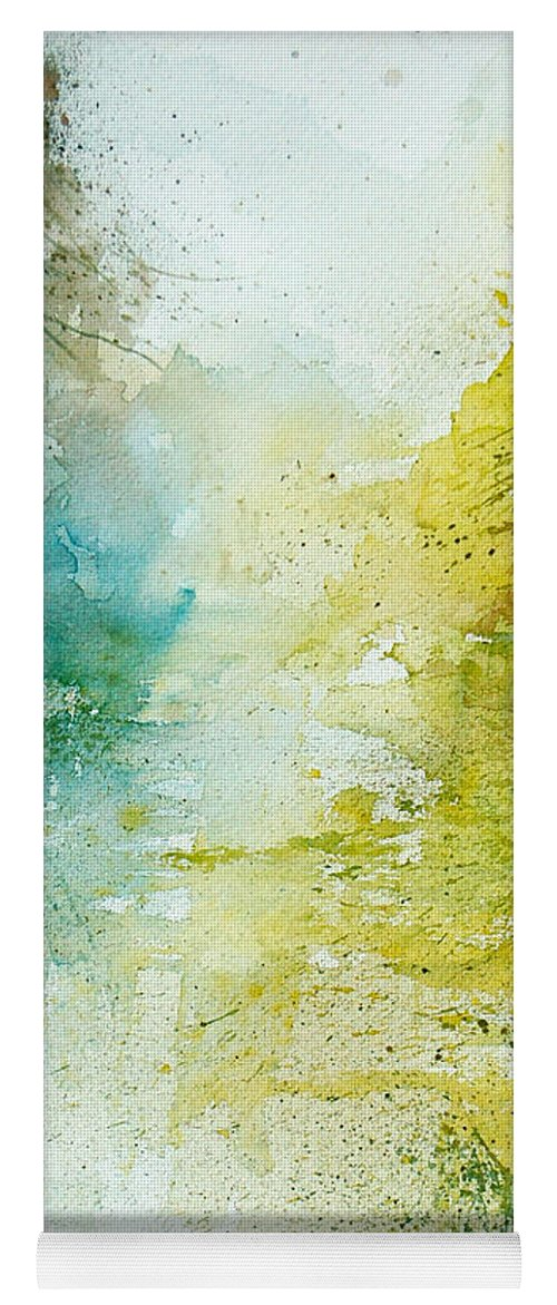 Pond Nature Landscape Yoga Mat featuring the painting Watercolor 24465 by Pol Ledent