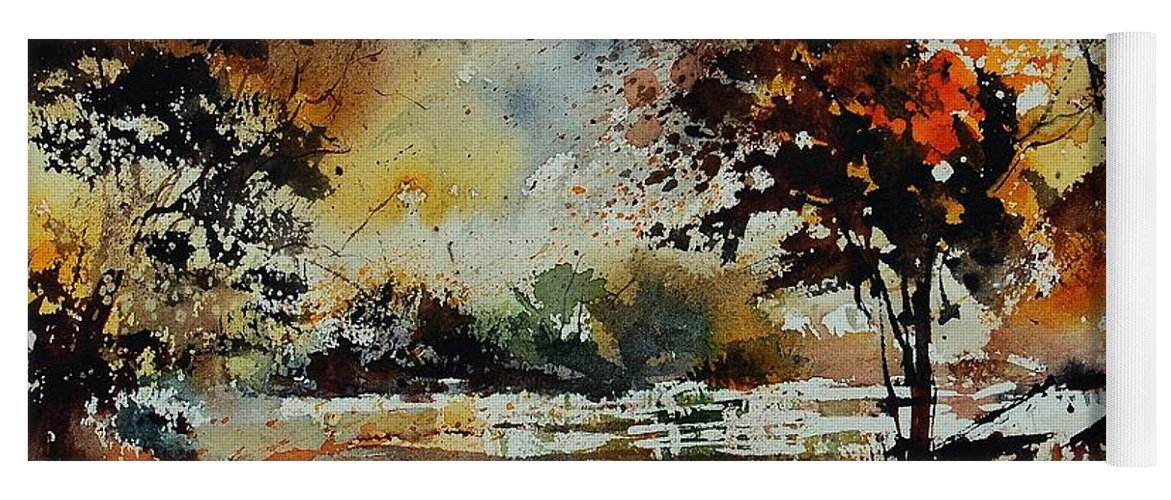 Tree Yoga Mat featuring the painting Watercolor 900152 by Pol Ledent