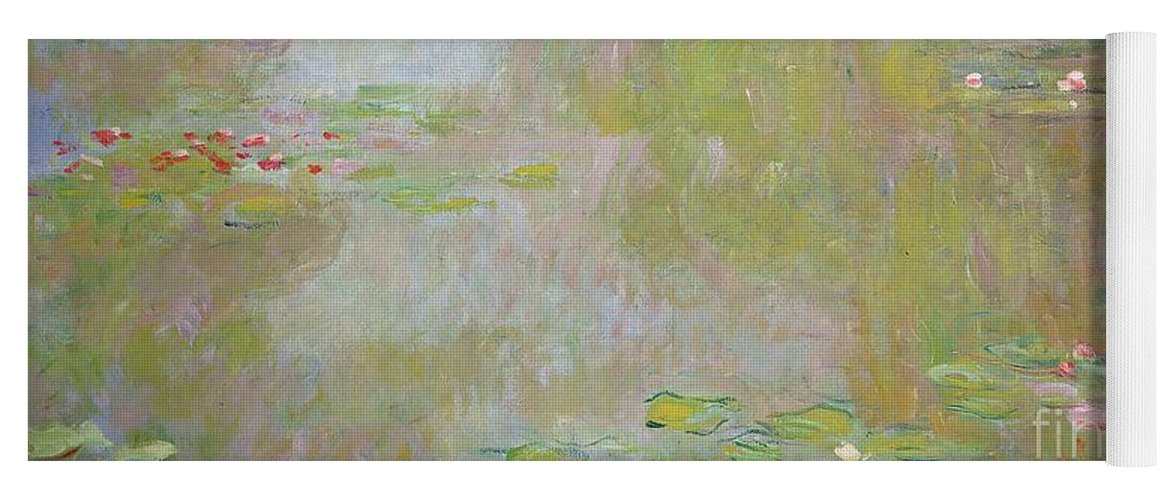 Waterlilies At Giverny Yoga Mat featuring the painting Waterlilies at Giverny by Claude Monet