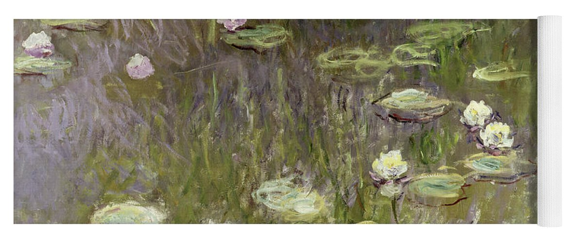 Waterlilies At Midday Yoga Mat featuring the painting Waterlilies at Midday by Claude Monet