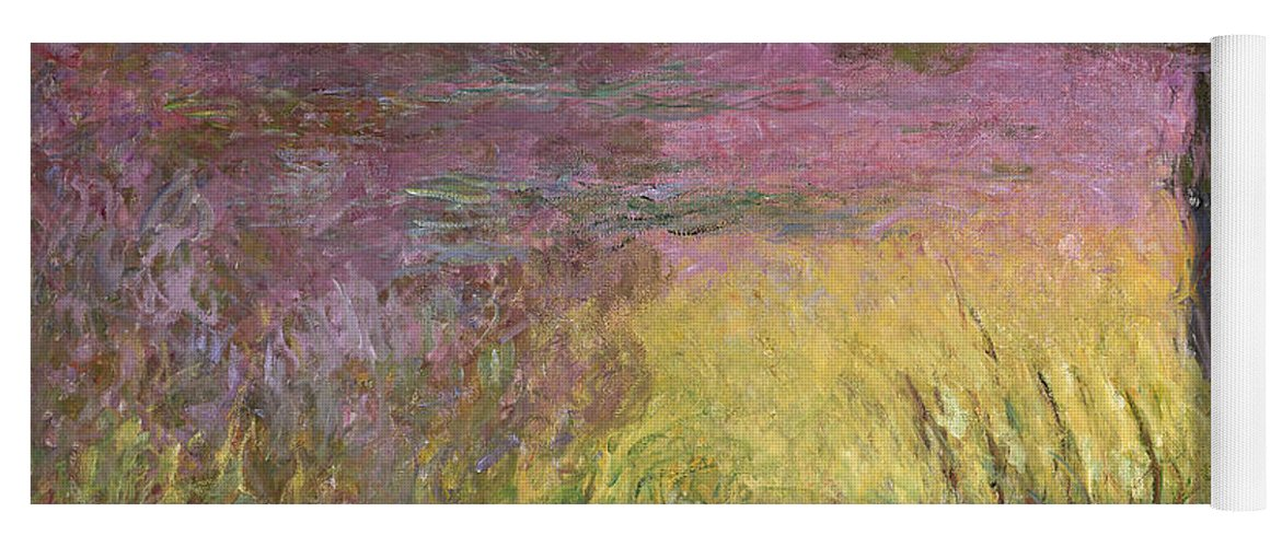 Waterlilies At Sunset Yoga Mat featuring the painting Waterlilies at Sunset by Claude Monet