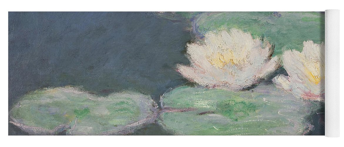 Waterlilies Yoga Mat featuring the painting Waterlilies by Claude Monet