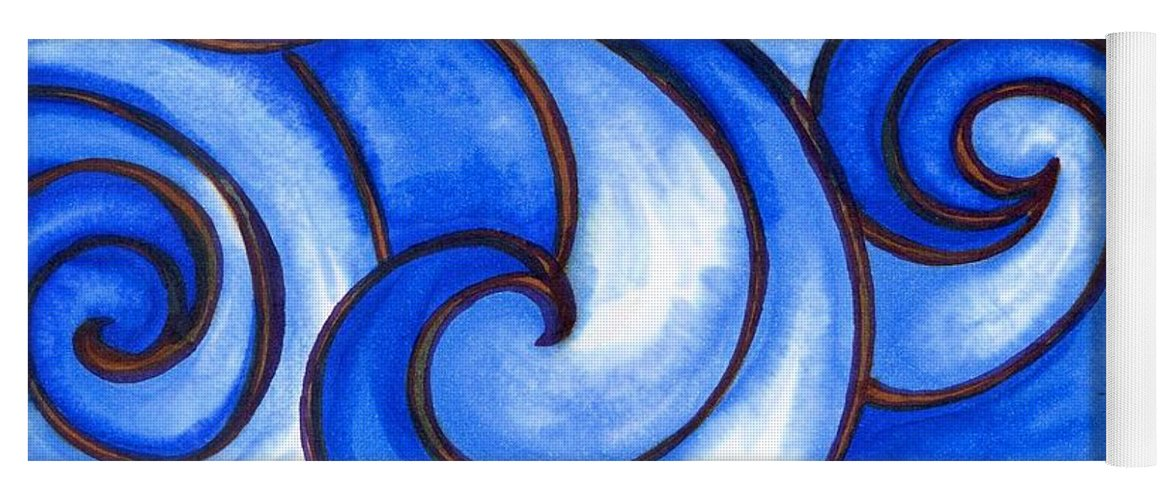 Water Yoga Mat featuring the painting Waves of Mercy by Vonda Drees