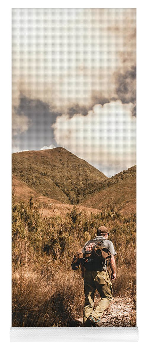 Hiking Yoga Mat featuring the photograph West Coast Tasmania Traveller by Jorgo Photography - Wall Art Gallery