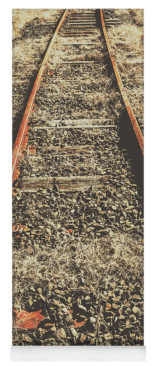 Rustic Yoga Mat featuring the photograph Western Railway Of Routes Forgotten by Jorgo Photography - Wall Art Gallery
