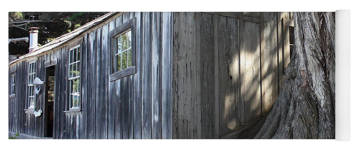Yoga Mat featuring the photograph Whalers Cabin by Carol Groenen