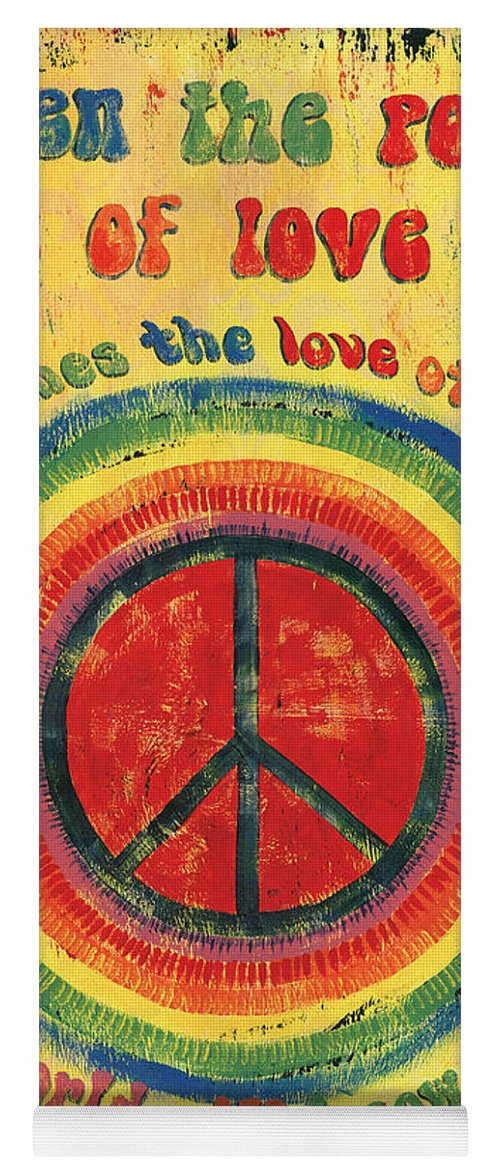 Love Yoga Mat featuring the painting When the Power of Love by Debbie DeWitt