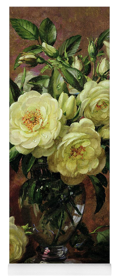 White Roses A Gift From The Heart Yoga Mat For Sale By Albert Williams