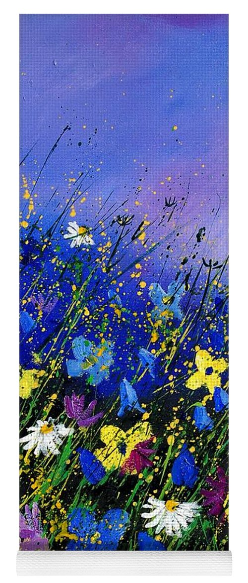 Flowers Yoga Mat featuring the painting Wild Flowers 560908 by Pol Ledent