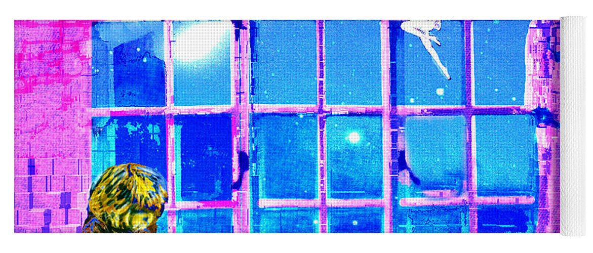 Window Of Dreams Yoga Mat featuring the digital art Window of Dreams by Seth Weaver