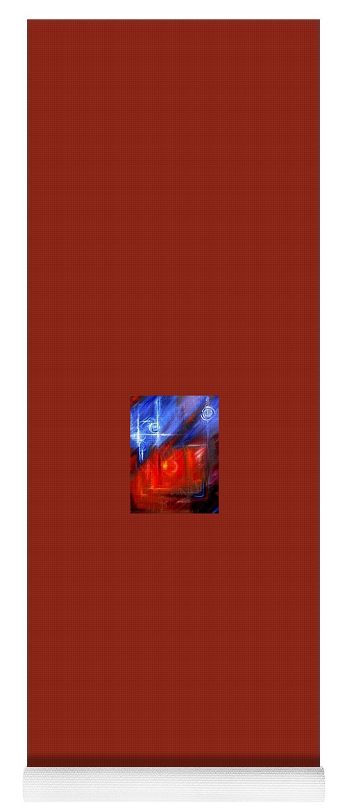 Abstracts Yoga Mat featuring the painting Windows by James Christopher Hill