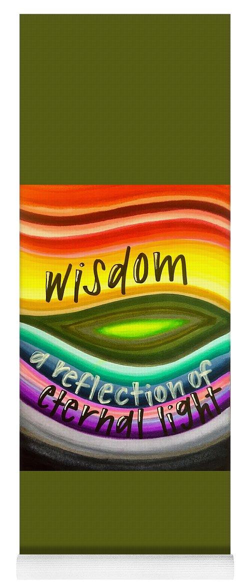 Wisdom Yoga Mat featuring the painting Wisdom by Vonda Drees