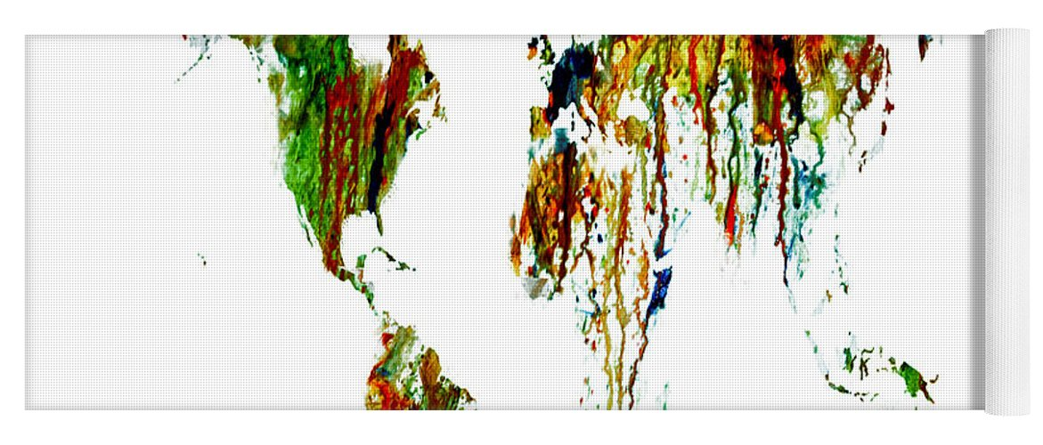 World map running paint 01 yoga mat for sale by brian reaves world map yoga mat featuring the painting world map running paint 01 by brian reaves gumiabroncs Gallery