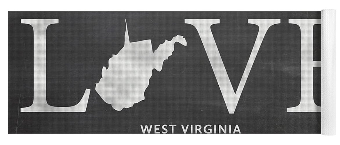 West Virginia Yoga Mat featuring the mixed media Wv Love by Nancy Ingersoll