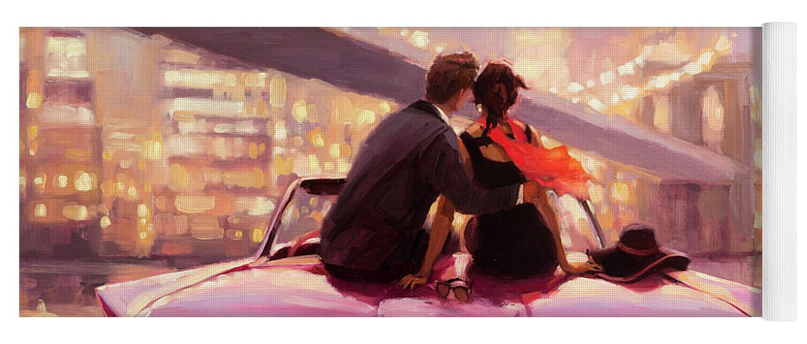 Love Yoga Mat featuring the painting You Are the One by Steve Henderson