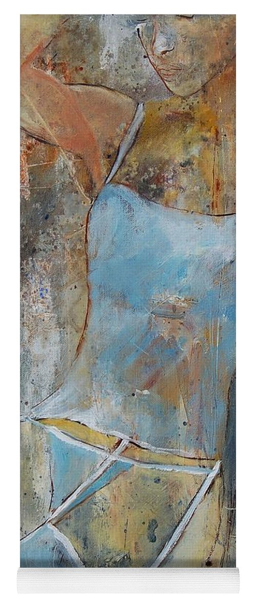 Nude Yoga Mat featuring the painting Young Girl 451108 by Pol Ledent