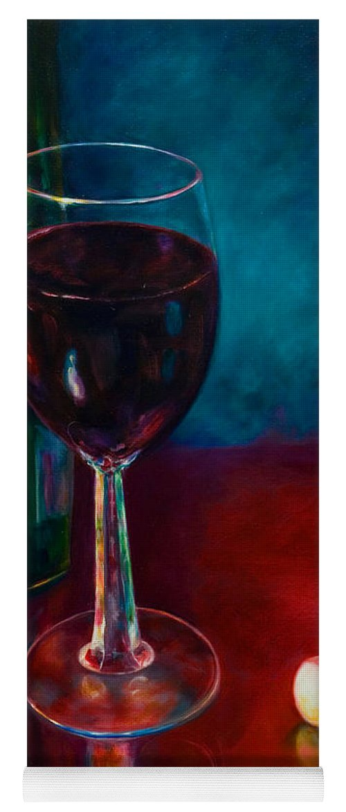 Wine Bottle Yoga Mat featuring the painting Zinfandel by Shannon Grissom