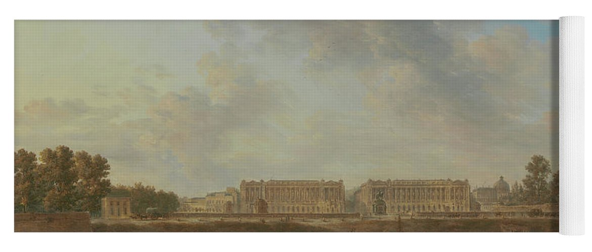 Alexandre-jean Noël Yoga Mat featuring the painting A View Of Place Louis Xv by Alexandre-Jean Noel