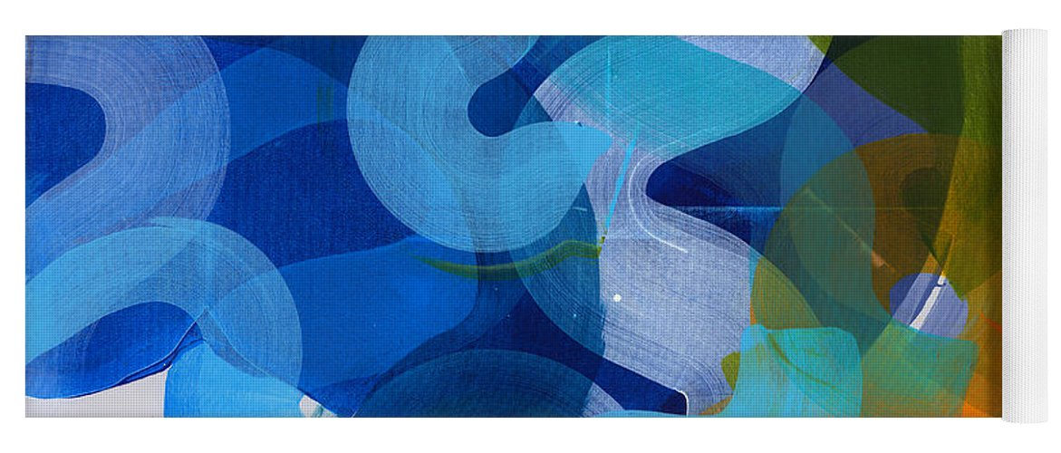 Abstract Yoga Mat featuring the painting Don't Overthink by Claire Desjardins