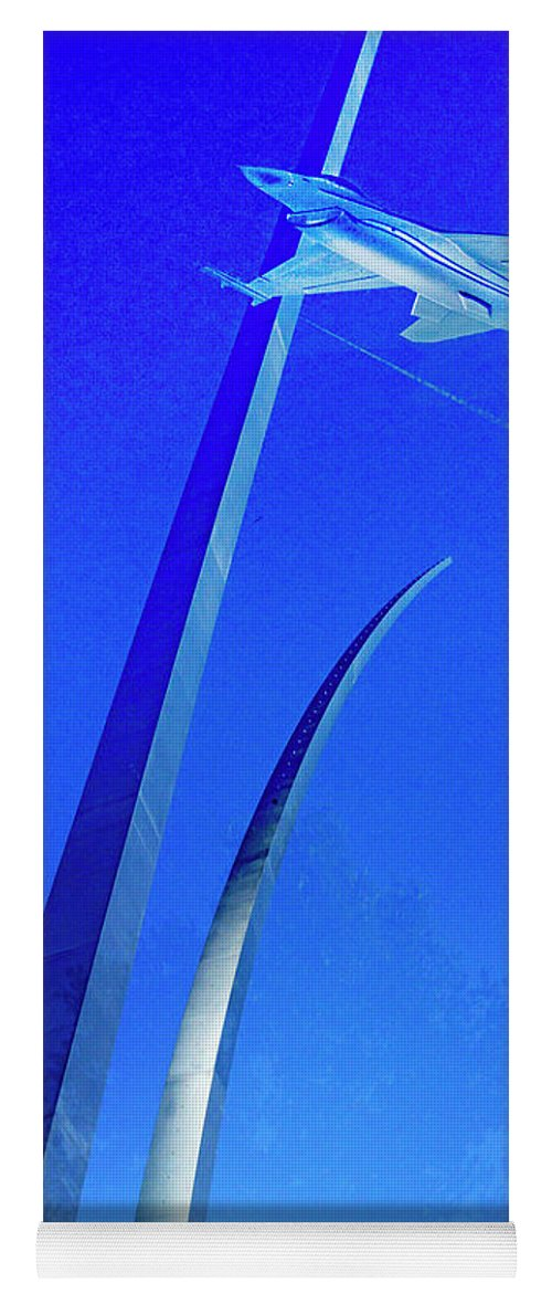Air Force Memorial Yoga Mat featuring the photograph Ghost Jet - 2 by Paul W Faust - Impressions of Light